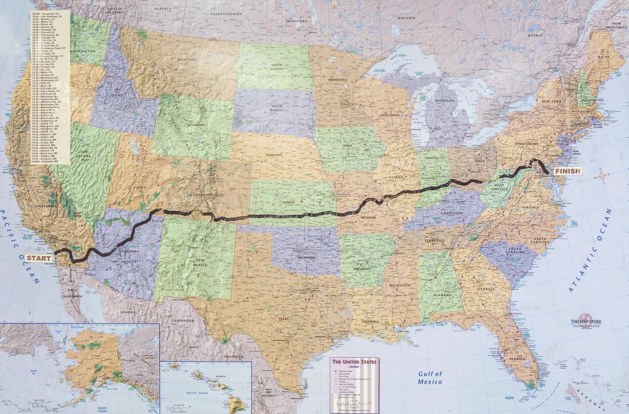 Map Of America By Race.Race Across America Leupsi